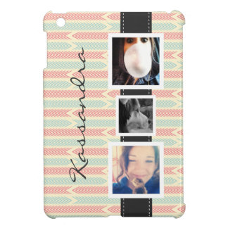 Fun 3 Photos and Name for Girls iPad Mini Covers