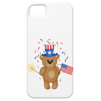 Fun 4th July Independence Day Cute Teddy Bear iPhone 5 Cover