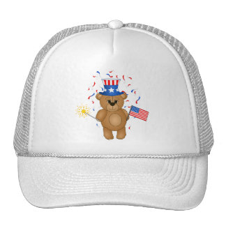 Fun 4th July Independence Day Cute Teddy Bear Hats