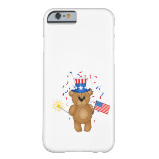 Fun 4th July Independence Day Cute Teddy Bear iPhone 6 Case