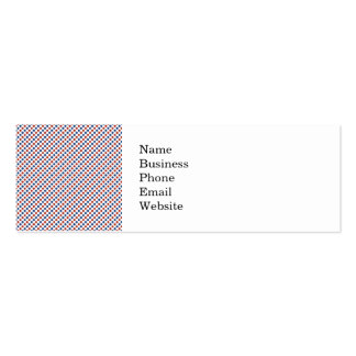 Fun 4th of July Red White and Blue Business Card Template