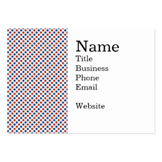 Fun 4th of July Red White and Blue Large Business Cards (Pack Of 100)