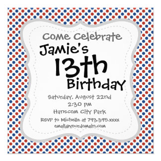 Fun 4th of July Red White and Blue Custom Announcement
