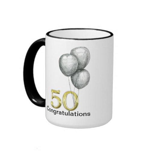 Fun 50 Happy Birthday  Big Boy Gift Mug
