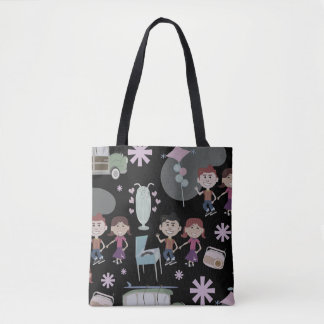 Fun 50s Collage Tote Bag