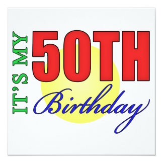 Fun 50th Birthday Party Gifts Card