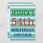 "[ Thumbnail: Fun ""54th Birthday Dinner"" Birthday Invitation ]"