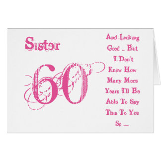 60th Birthday Wishes For Sister