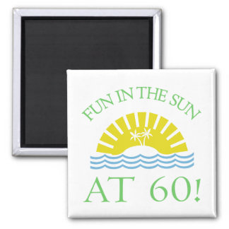 Fun 60th Birthday Gifts 2 Inch Square Magnet