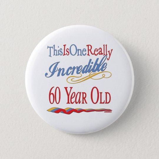 Fun 60th Birthday Gifts Button