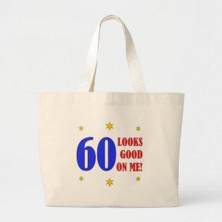 Fun 60th Birthday Gifts Large Tote Bag