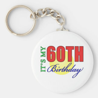Fun 60th Birthday Party Gifts Keychain