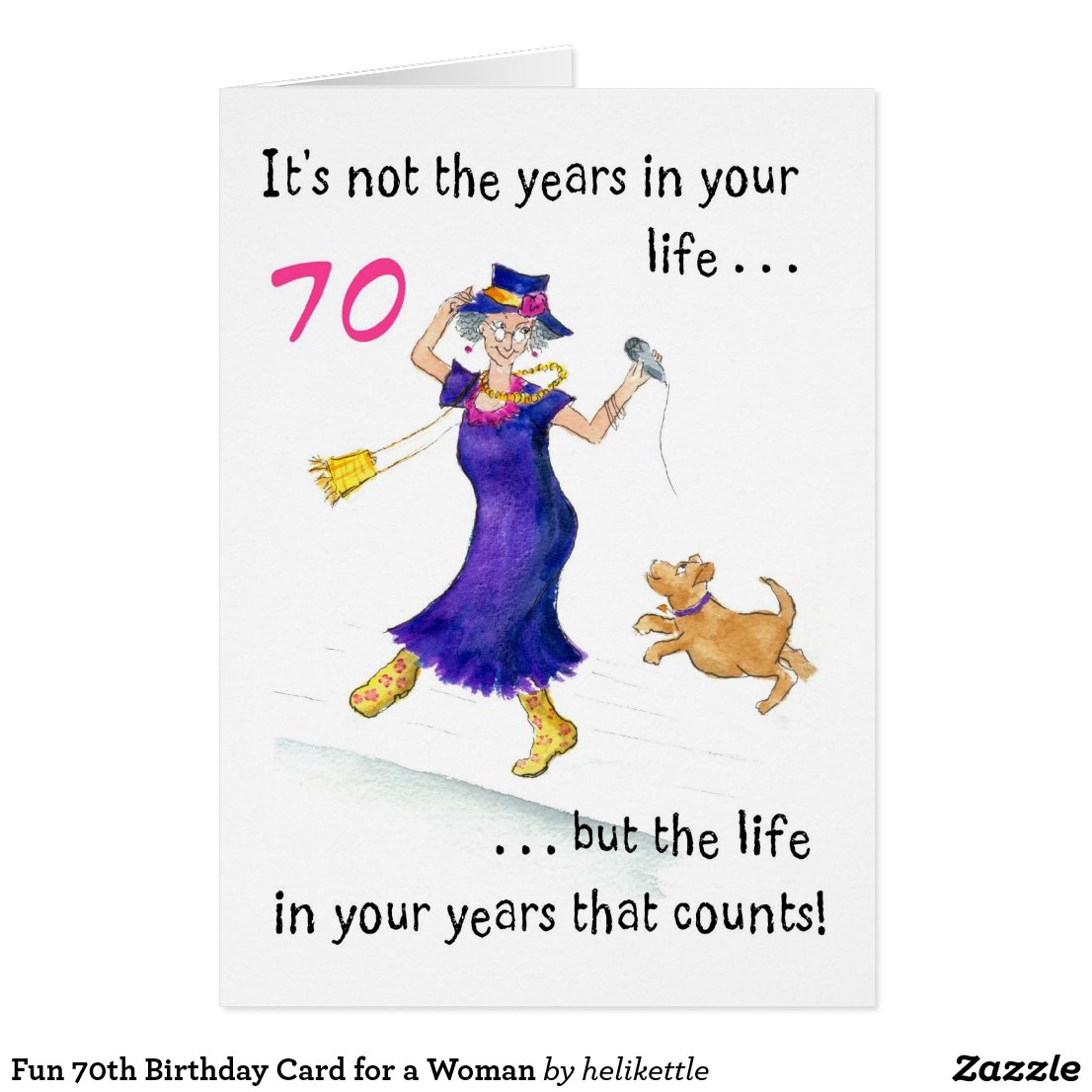 70th birthday quotes fun 70th birthday card for a