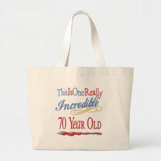 Fun 70th Birthday Gifts Canvas Bag
