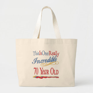Fun 70th Birthday Gifts Large Tote Bag