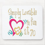Fun 70th Birthday Gifts Mouse Mats