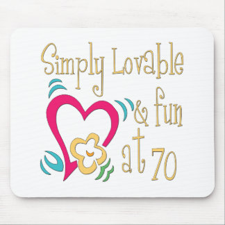 Fun 70th Birthday Gifts Mouse Pad