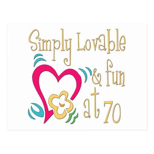 Fun 70th Birthday Gifts Postcard