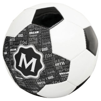 Fun 80th Birthday Party Personalized Monogram Soccer Ball