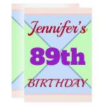 "[ Thumbnail: Fun ""89th Birthday"" Birthday Invitation ]"