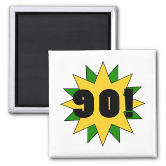Fun 90th Birthday Party 2 Inch Square Magnet
