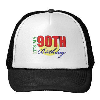 Fun 90th Birthday Party Gifts Mesh Hat