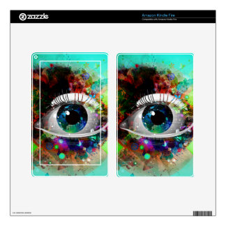 Fun Abstract Art eye design Kindle Fire Skin