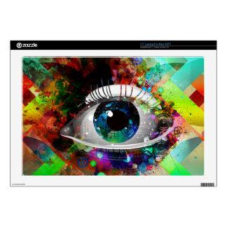 "Fun Abstract Art eye design Skin For 17"" Laptop"