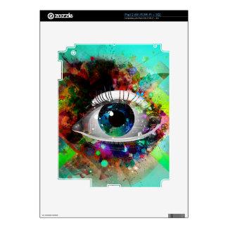 Fun Abstract Art eye design Skins For The iPad 2