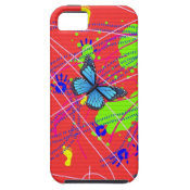 Fun Abstract Butterfly Hand Prints iPhone Case iPhone 5 Cover