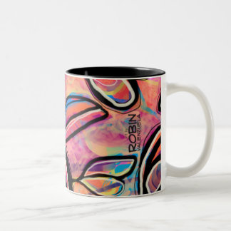Fun Abstract Floral Mug