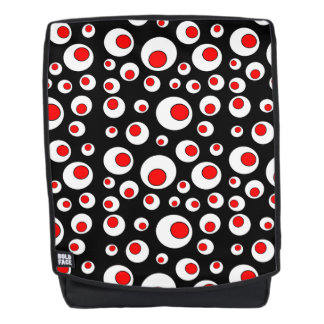 Fun Abstract Geometric Pattern Red White Circles Backpack