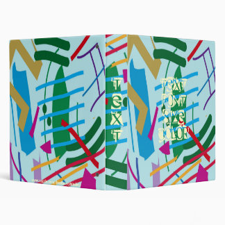 Fun! Abstract Notebook Binder ~ Many Ways To Use?