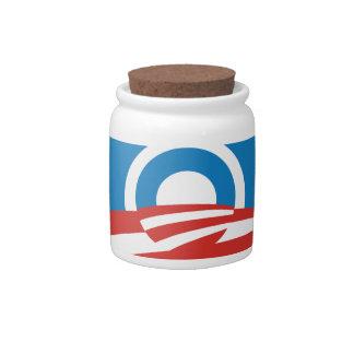 Fun Abstract Obama Logo Candy Jar