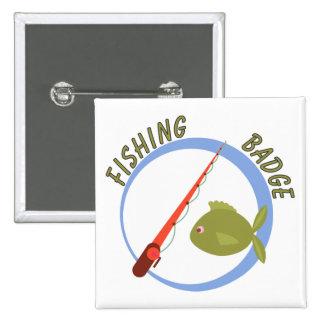 Fun Accomplishment Badge For Fishing 2 Inch Square Button