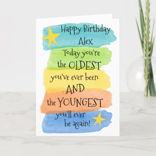 Fun Add A Name Happy Birthday Greeting Card