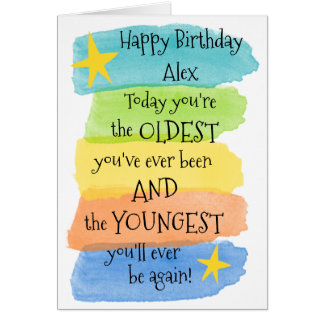 Fun Add a Name Happy Birthday Greeting Card