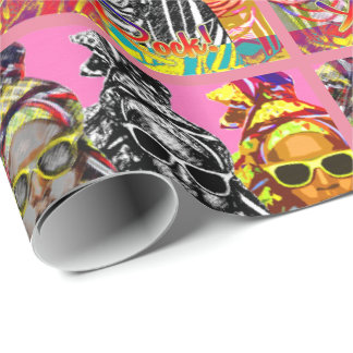Fun African Fashion Wrapping Paper