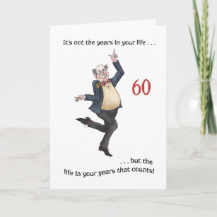 Fun Age Specific 60th Birthday Card For A Man