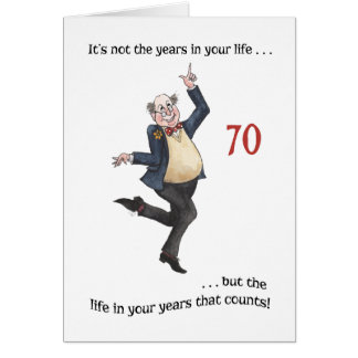 Fun Age-specific 70th Birthday Card for a Man