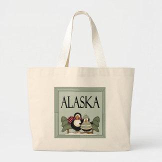 Fun Alaska Winter Design T-shirt Gift Large Tote Bag