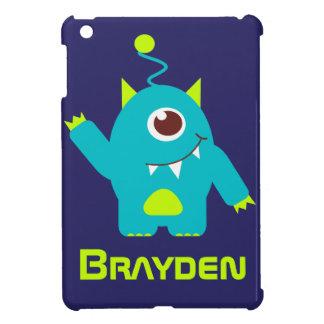 Fun alien face case aqua blue name mini case iPad mini cover