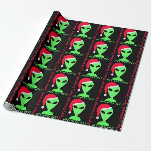 Fun Alien Santa Geek Humor LGM Christmas Gift Wrap