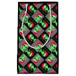 Fun Alien Santa Geek Humor LGM Christmas Pattern Small Gift Bag