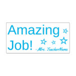 "[ Thumbnail: Fun ""Amazing Job!"" Acknowledgement Rubber Stamp ]"