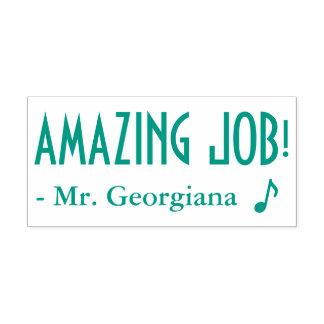 "Fun ""AMAZING JOB!"" + Educator's Name Rubber Stamp"