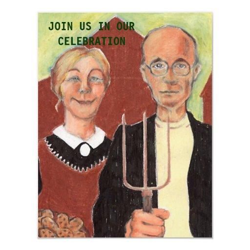FUN ~ AMERICAN GOTHIC ANNIVERSARY PARTY INVITATION