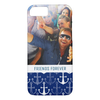 Fun Anchor Pattern | Your Photo & Text iPhone 7 Case