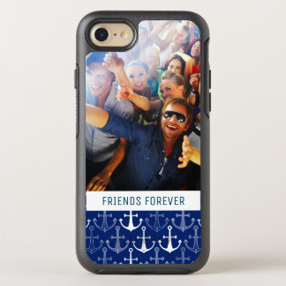 Fun Anchor Pattern | Your Photo & Text OtterBox Symmetry iPhone 7 Case