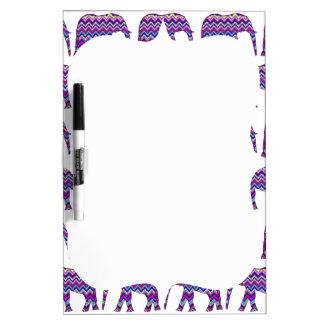 Fun and Bold Chevron Elephants on White Dry Erase Board